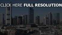 deutschland wolkenkratzer panorama frankfurt