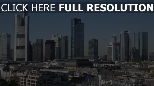 hd hintergrundbilder deutschland wolkenkratzer panorama frankfurt