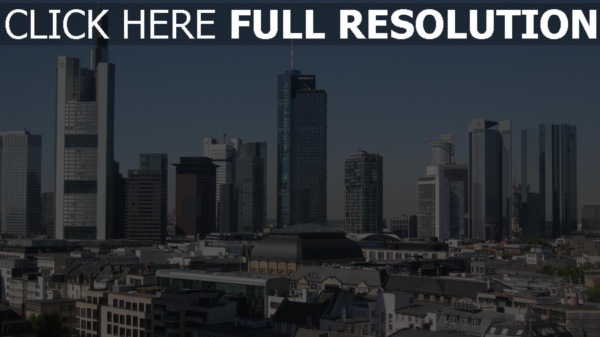 hd hintergrundbilder deutschland wolkenkratzer panorama frankfurt 1920x1080