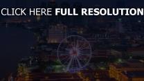 bangkok wolkenkratzer metropole riesenrad häuser nachtstadt