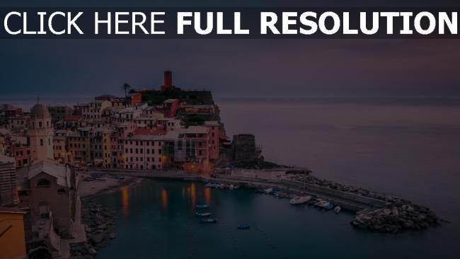 hd hintergrundbilder liguria vernazza italien