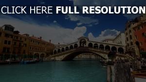 italien gebäude fluss venedig