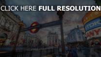 straße u-bahn menschen häuser fenster stadt straßenbahnen london
