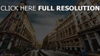 madrid menschen himmel zeichen wolken spanien stadt