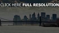 manhattan fluss brücke panorama new york