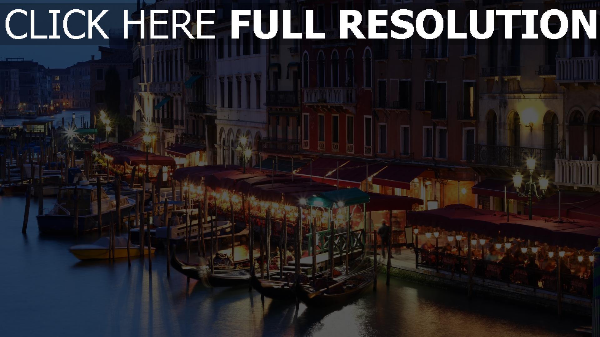 hd hintergrundbilder italien cafe haus gondel menschen