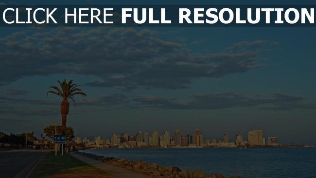 hd hintergrundbilder wolkenkratzer usa palmen kalifornien strand san diego