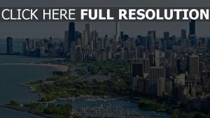 wolkenkratzer ozean aufsicht chicago