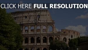 italien stadt menschen colosseum rom