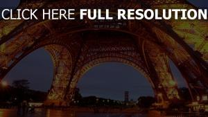 paris nacht beleuchtung frankreich eiffelturm