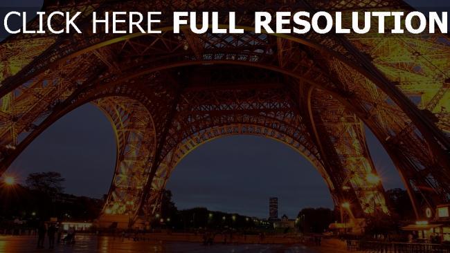 hd hintergrundbilder paris nacht beleuchtung frankreich eiffelturm