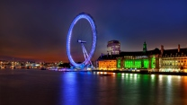 england nacht hauptstadt fluss architektur riesenrad london thames