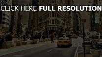 stadt autos gebäude straße verkehr new york