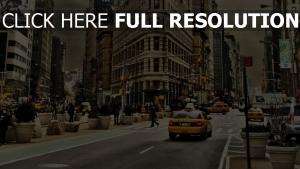 stadt straße autos gebäude new york