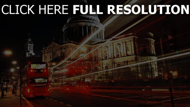 hd hintergrundbilder stadt nacht bus london