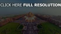 akshardham tempel aufsicht panorama schön indien