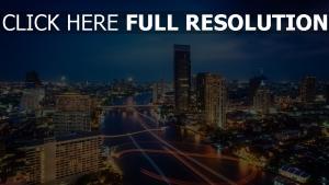 thailand ampel nacht lichter der stadt nachtstadt bangkok