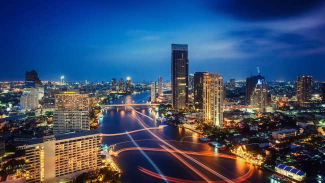 hd hintergrundbilder thailand ampel nacht lichter der stadt nachtstadt bangkok
