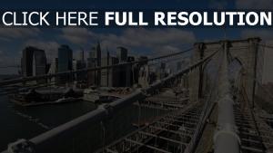 brooklyn brücke bau new york city