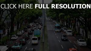 japan stadt autos straße tokio