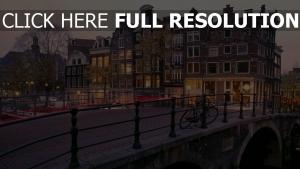 sonnenaufgang niederlande amsterdam kanal