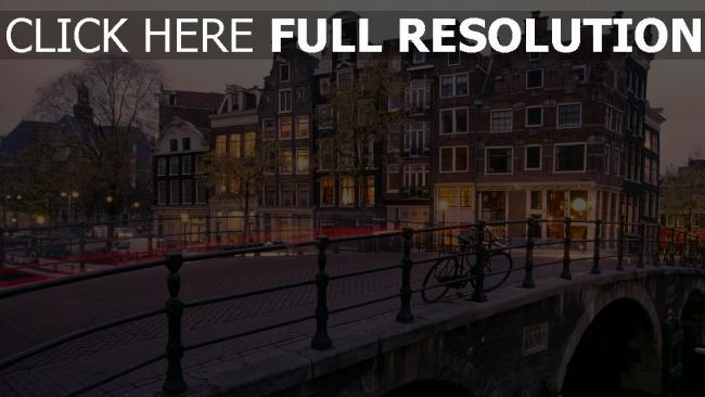 hd hintergrundbilder sonnenaufgang niederlande amsterdam kanal