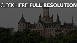 deutschland bäume marienburg türme gotisch hannover