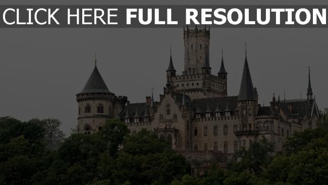 hd hintergrundbilder deutschland bäume marienburg türme gotisch hannover