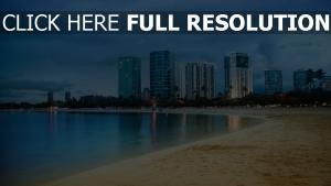 miami ozean strand himmel skyscraper küste sand