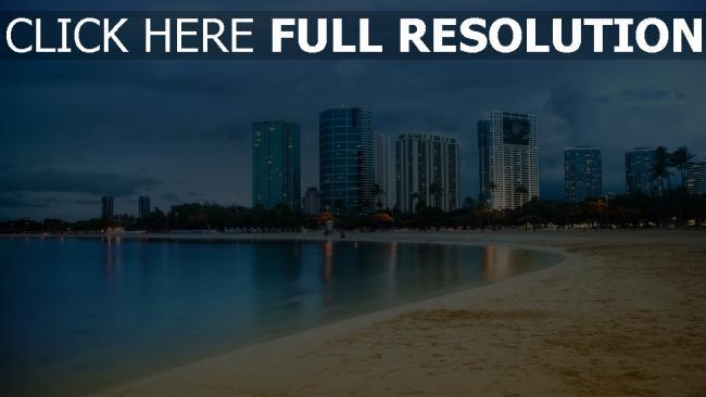 hd hintergrundbilder miami ozean strand himmel skyscraper küste sand