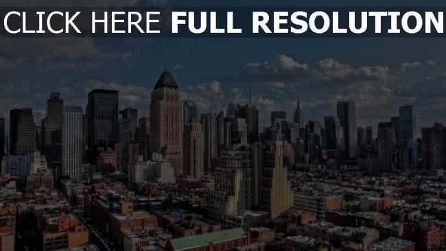 hd hintergrundbilder manhattan ny hdr new york usa