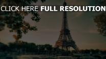 frankreich landschaft bäume paris