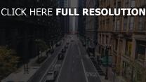 himmel markierung straße chicago
