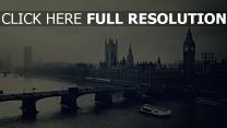 big ben aufsicht fluss gebäude nacht london schwarz-weiss