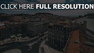 portugal blick von oben gebäude lissabon