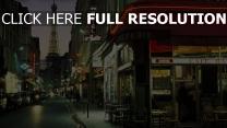 straße frankreich abend paris