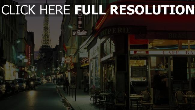 hd hintergrundbilder straße frankreich abend paris