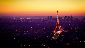 frankreich dämmerung beleuchtung eiffelturm paris