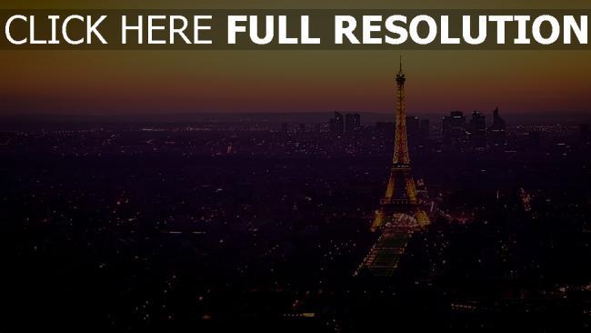 hd hintergrundbilder frankreich dämmerung beleuchtung eiffelturm paris