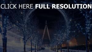 riesenrad winter schön london london eye