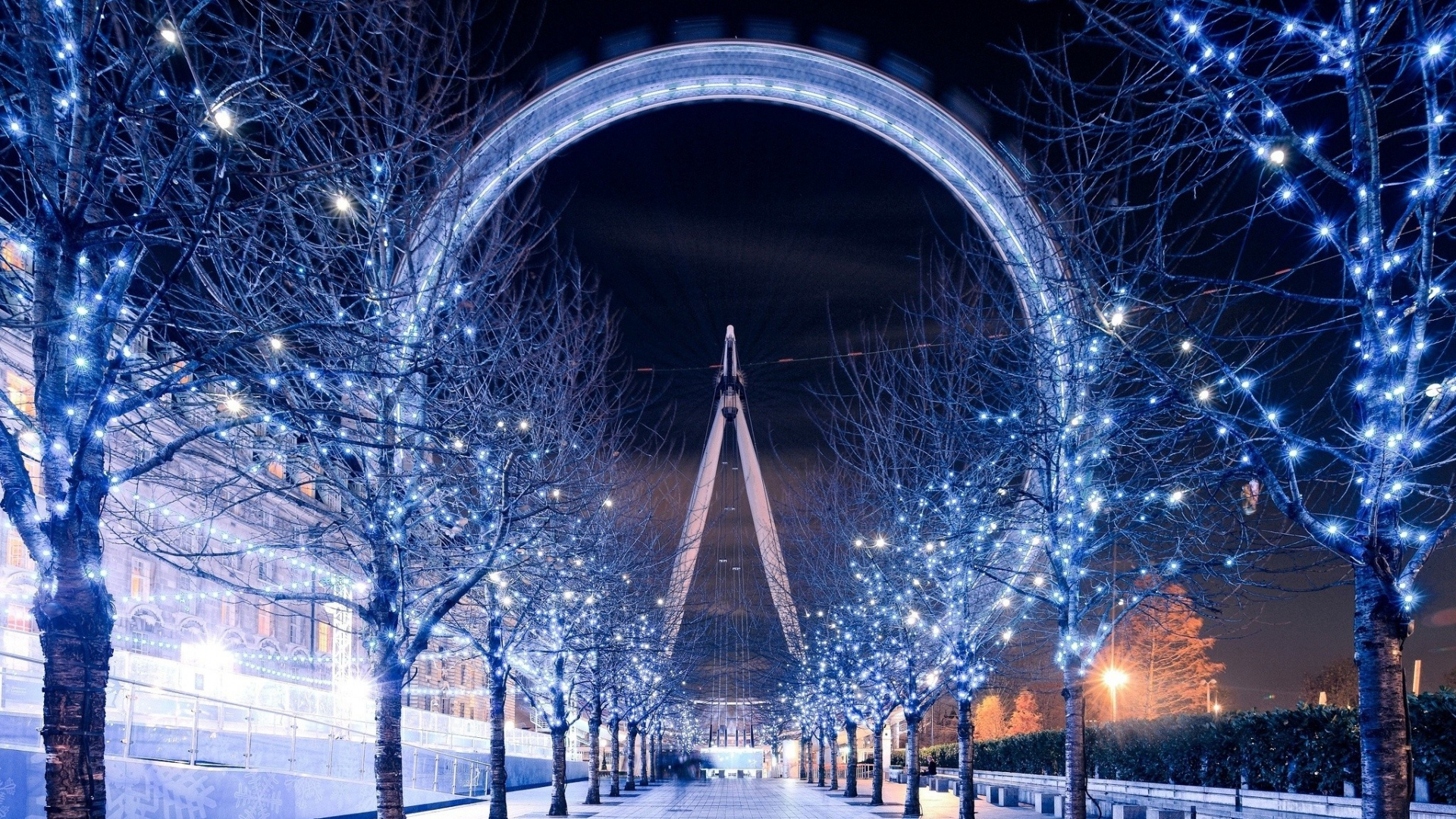 HD Hintergrundbilder Riesenrad Winter Schn London London