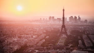paris morgen eiffelturm nebel dämmerung frankreich stadt