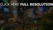 asien nacht tokio straße japan überschneidung hdr