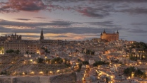toledo dämmerung hdr beleuchtung spanien