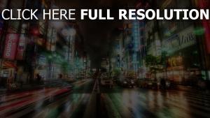 nachtstadt hdr tokio stadt