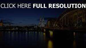deutschland architektur brücke köln hdr