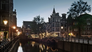 amsterdam brücke kanal abend holland straße