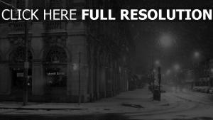 straße schnee stadt