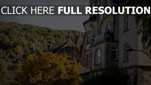 gebäude wald architektur deutschland herbst heidelberg