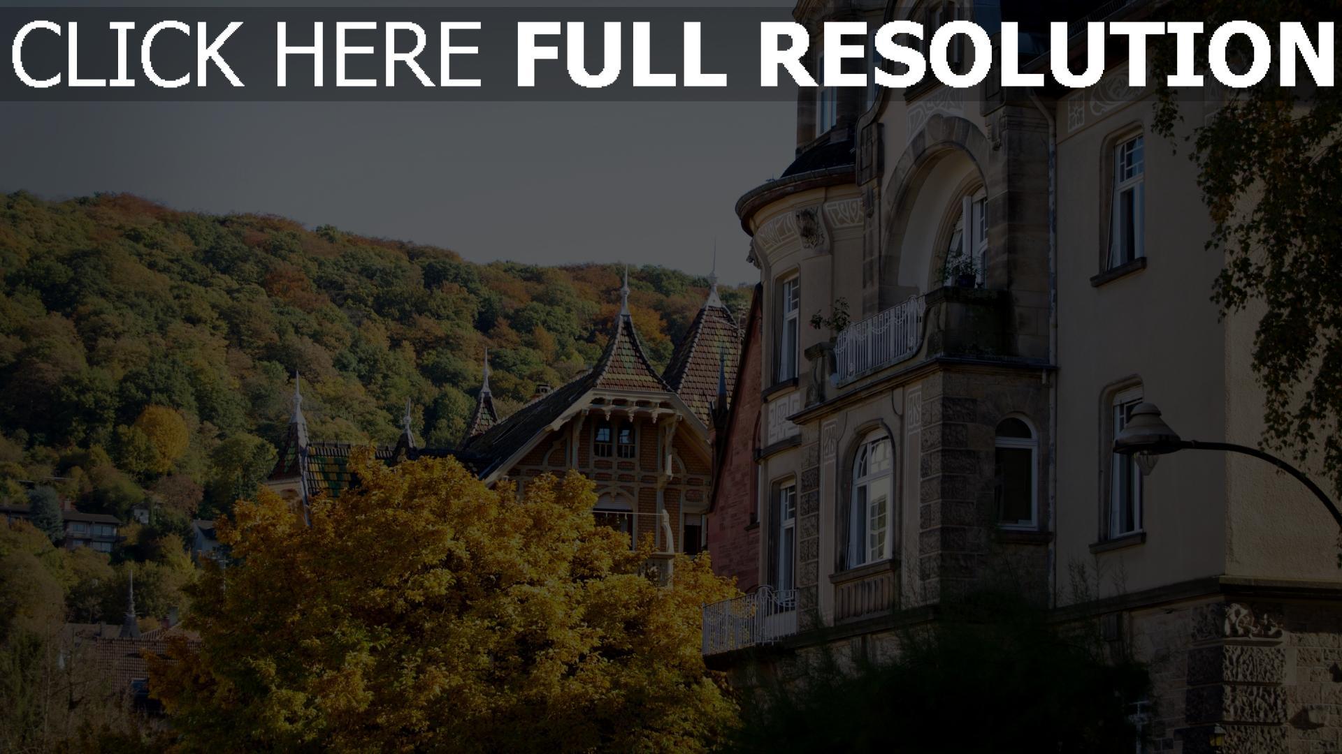 hd hintergrundbilder gebäude wald architektur deutschland herbst heidelberg 1920x1080